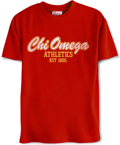 Chi Omega Athletics Shirt