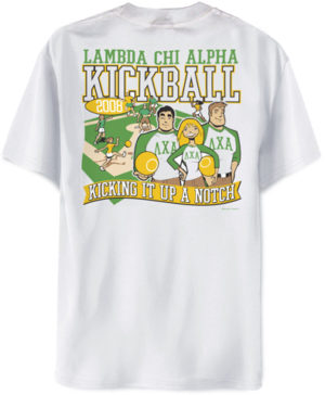 Lambda Chi Alpha Kickball Shirt