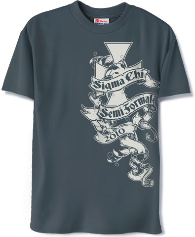 Sigma Chi Semi Formal T Shirt Greekshirts