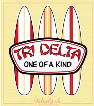 Tri Delta Surf Shop Bid Dy Shirt