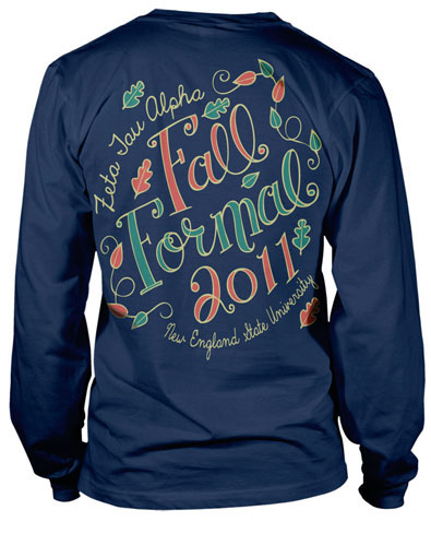 6008 zeta tau alpha fall formal greekshirts for Sorority t shirt design