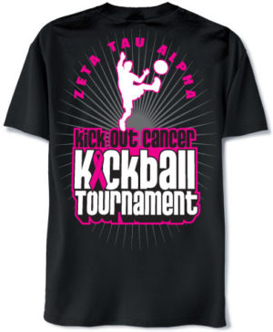 Zeta Tau Alpha Kickball Shirt