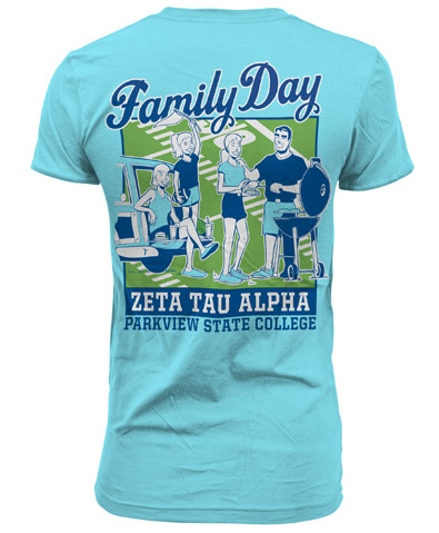 Zeta Tau Alpha Family Day T-Shirt