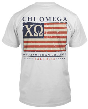 Chi Omega Flag Shirt