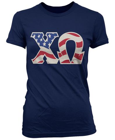 Chi Omega Patriotic Shirt