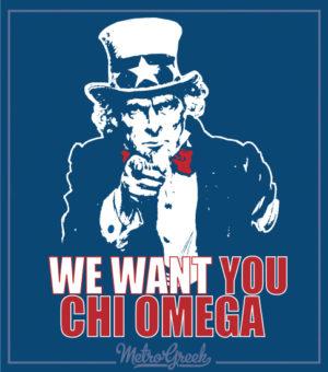 Chi Omega Uncle Sam Shirt