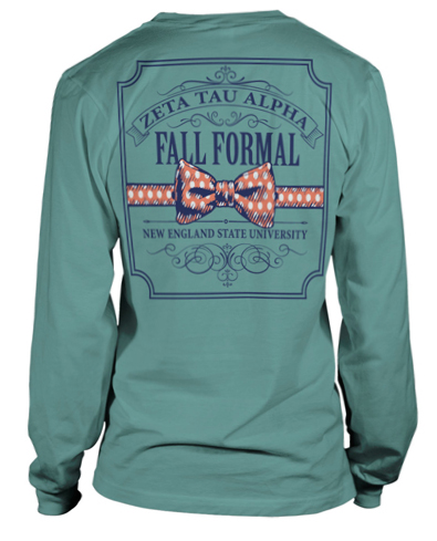 6751 zeta tau alpha fall formal greekshirts for Sorority t shirt design