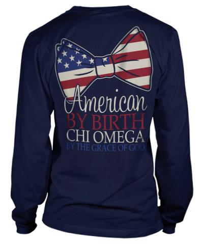 Chi Omega American T-Shirt