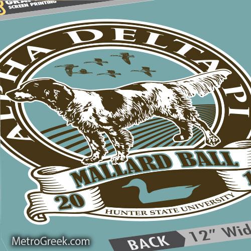 Alpha Delta Pi Mallard Ball Art Proof
