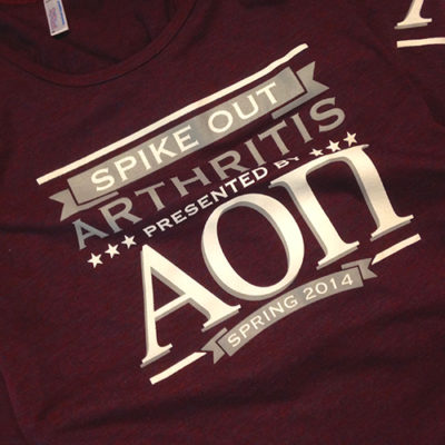 Alpha Omicron Pi Fight Arthritis T-shirt