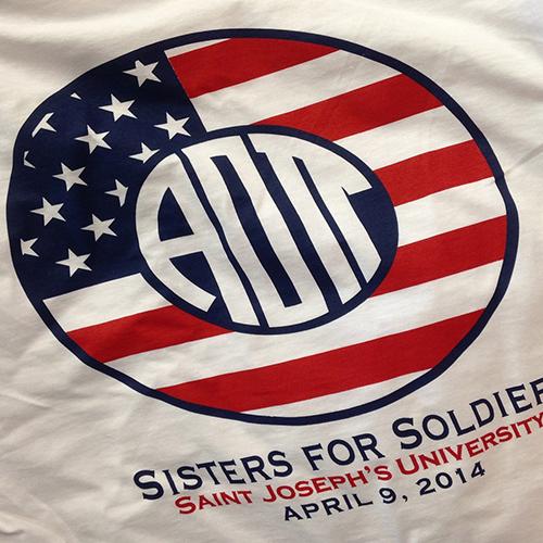 Alpha Omicron Pi Patriotic Monogram T-shirt
