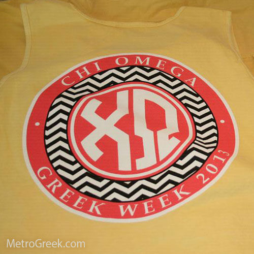 Chi Omega Monogram Tank Top in Butter