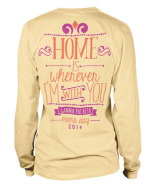 Gamma Phi Beta Mom's Day T-shirt