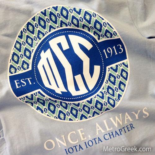 Phi Sigma Sigma Monogram T-shirt