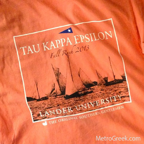 Tau Kappa Epsilon Recruitment T-shirts