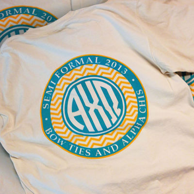 Alpha Chi Omega Monogram T-shirt