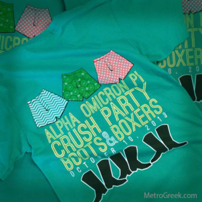 Alpha Chi Omega Crush Party T-shirt