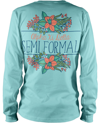6145 alpha xi delta semi formal t shirt greekshirts for Sorority t shirt design