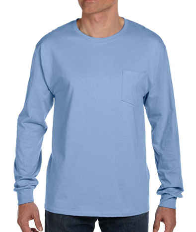 Hanes Long Sleeve Pocket T-shirt