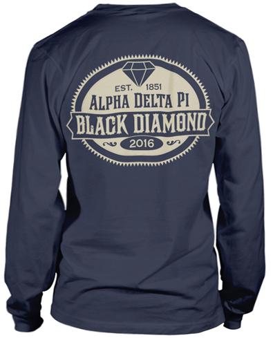 Alpha Delta Pi Black Diamond T-shirt