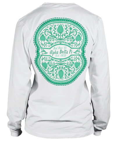 Alpha Delta Pi Floral Bid Day T-shirt