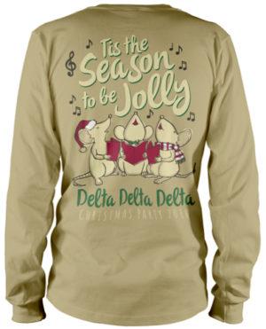 Delta Delta Delta Christmas T-shirt