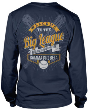 Gamma Phi Beta Baseball T-shirt