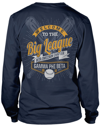 1311 gamma phi beta baseball t shirt greekshirts