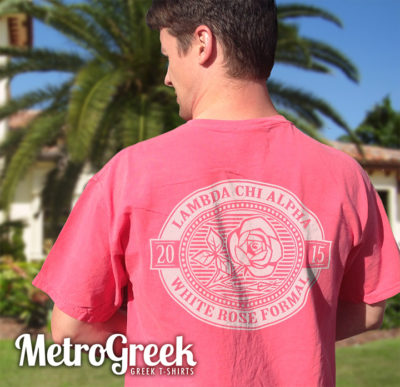 Lambda Chi Alpha White Rose Formal T-shirt
