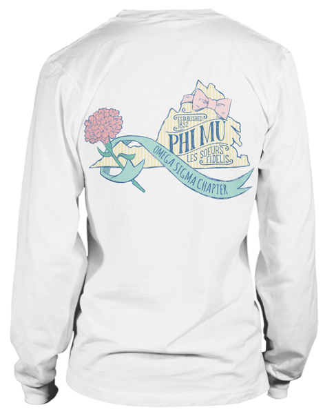 Phi Mu State of Virginia T-shirt