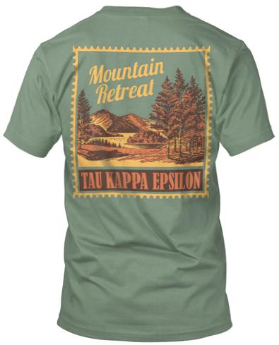 Tau Kappa Epsilon Mountain Retreat T-shirt