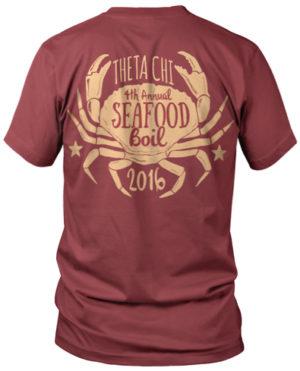 Theta Chi Seafood Boil T-shirt