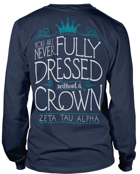 Zeta Tau Alpha Crown T-shirt