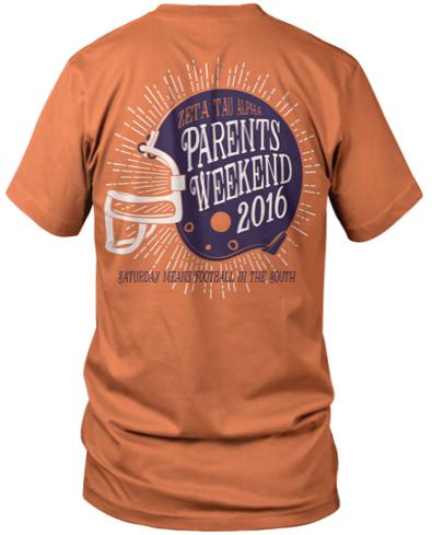 Zeta Tau Alpha Family Weekend T-shirt