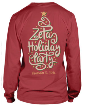 Zeta Tau Alpha Holiday T-shirt