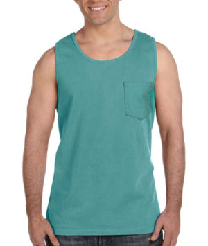 9330 Comfort Colors Pocket Tank Top