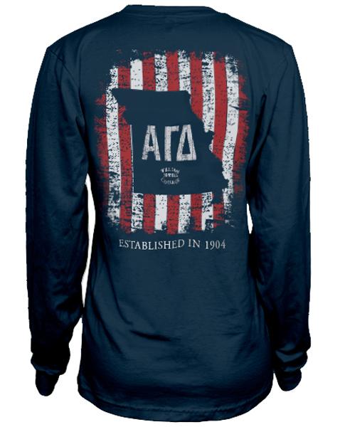 Alpha Gamma Delta Flag T Shirt