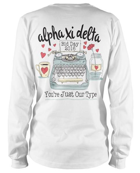 Alpha Xi Delta Bid Day T-shirt