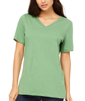 Bella 6405 Ladies' Relaxed Jersey Short-Sleeve V-Neck T-Shirt