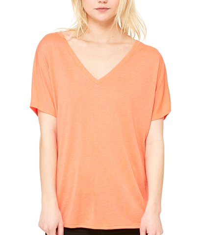 Bella Ladies' Slouchy V-Neck T-Shirt