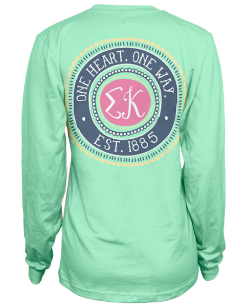 1029 sigma kappa circle t shirt greekshirts for Sorority t shirt design