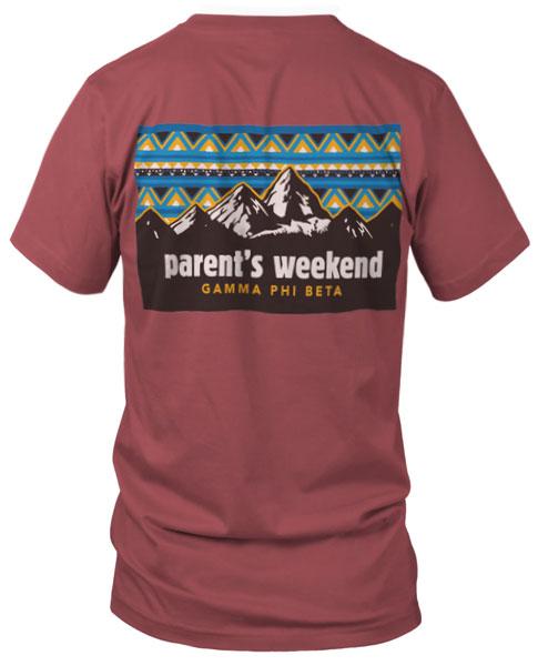 Gamma Phi Beta Parents T-shirt