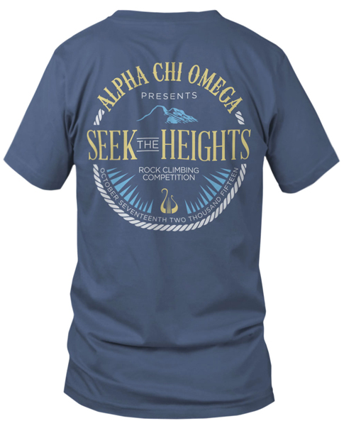 1073 Alpha Chi Omega Mountian T-shirt