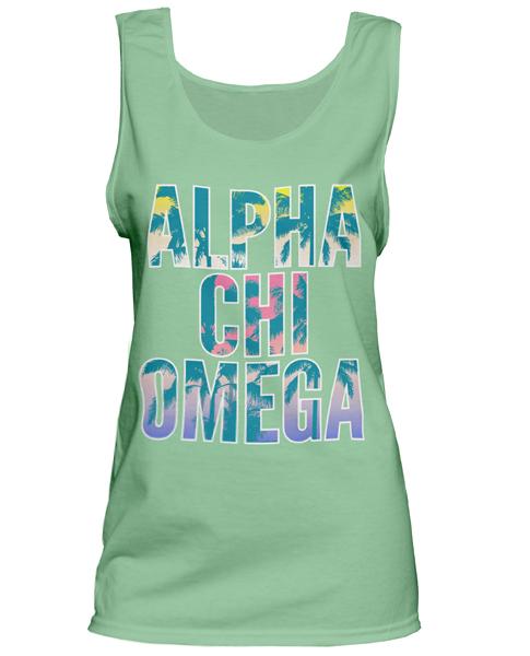 Alpha Chi Omega Tropical Tank Top