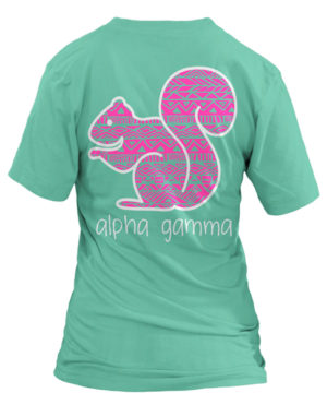 Alpha Gamma Delta Squirrel T-shirt
