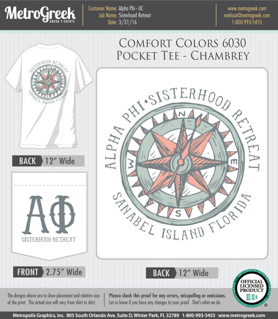 Alpha Phi Sisterhood Retreat T-shirt