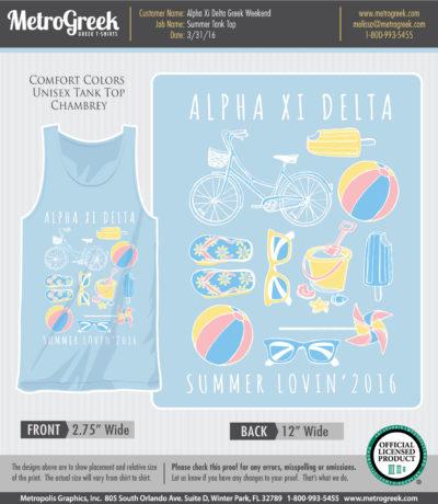Alpha Xi Delta Summer Tank Top