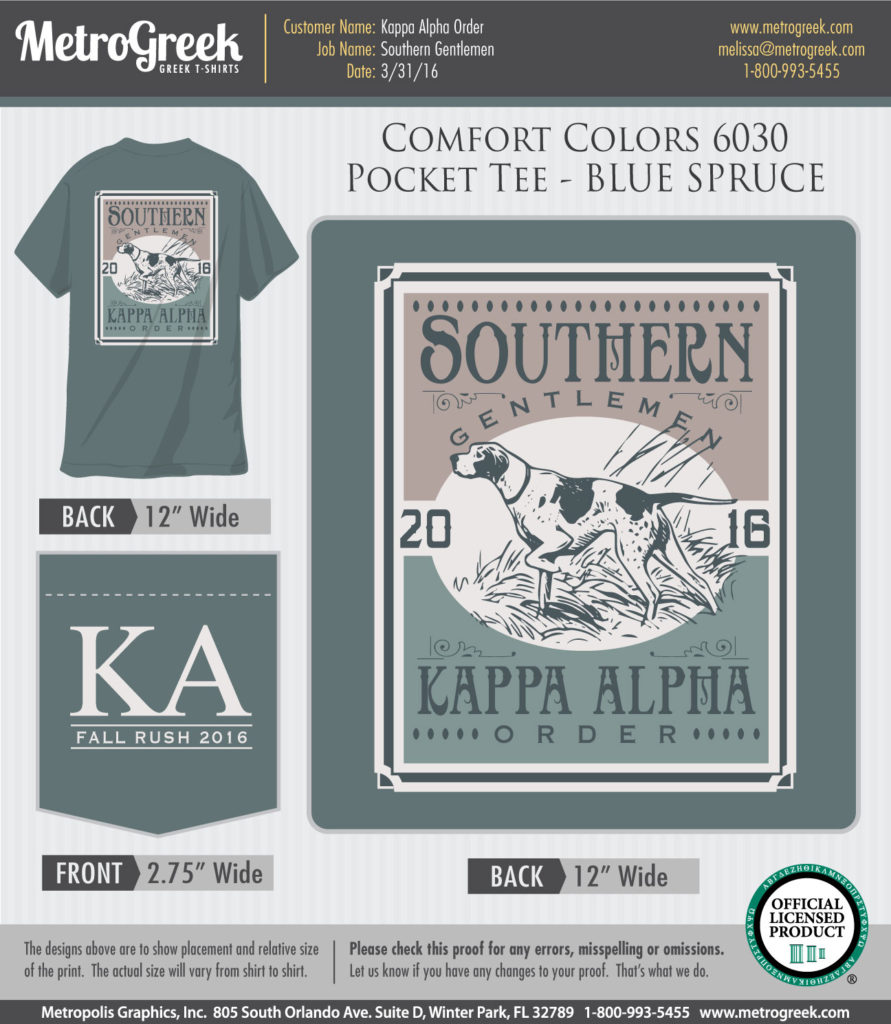 Kappa Alpha Southern Gentlemen T-shirt