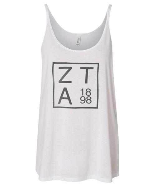 Zeta Tau Alpha Flowy Tank Top