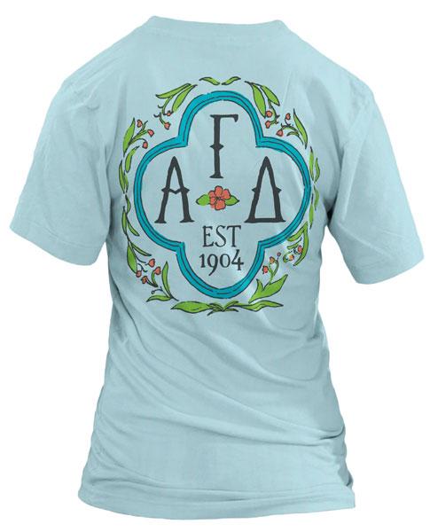 Alpha Gamma Delta Quatrefoil T-shirt